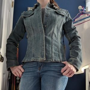 Clothing, Shoes & Accessories Brighton Denim Jacket Snap Closures Jean Heart Embroidery Low Price Women's Clothing